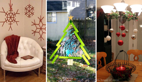 36 creative diy christmas decorations you can make in for Room decor you can make