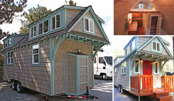 Tiny Craftsman Bungalow on Wheels