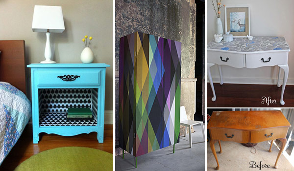 Charmant 27 Cool DIY Furniture Makeovers With Wallpaper