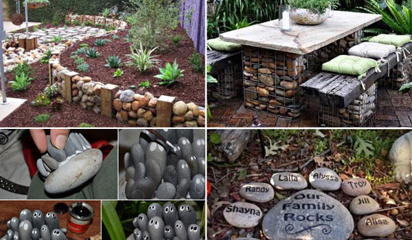 26 fabulous garden decorating ideas with rocks and stones for Garden design ideas using pebbles