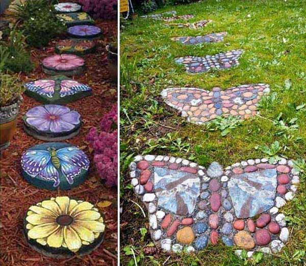 26 fabulous garden decorating ideas with rocks and stones for Homemade garden decorations