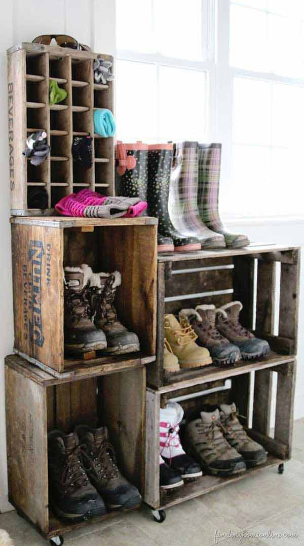 shoe storage ideas woohome 2 28 Clever DIY Shoes Storage Ideas
