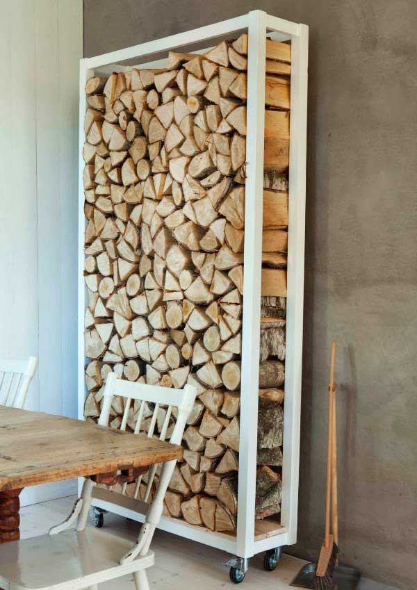 37 insanely smart diy storage ideas you need to know for Log storage ideas