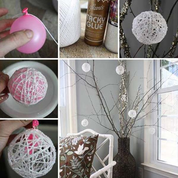 Simple Christmas Home Decorations: 36 Easy And Beautiful DIY Projects For Home Decorating You