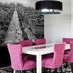 22 Attractive Dining Room Design Ideas with Modern Wall Murals