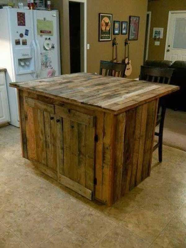 Top 30 the best diy pallet projects for kitchen amazing for How to make a pallet kitchen table
