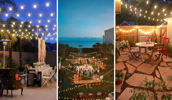 26 breathtaking yard and patio string lighting ideas will - How to use lights to decorate your patio ...