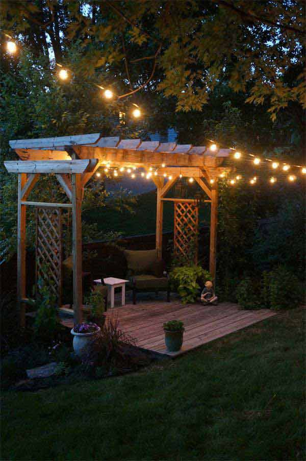 led garden lighting ideas. Patio-outdoor-string-lights-woohome-11 Led Garden Lighting Ideas