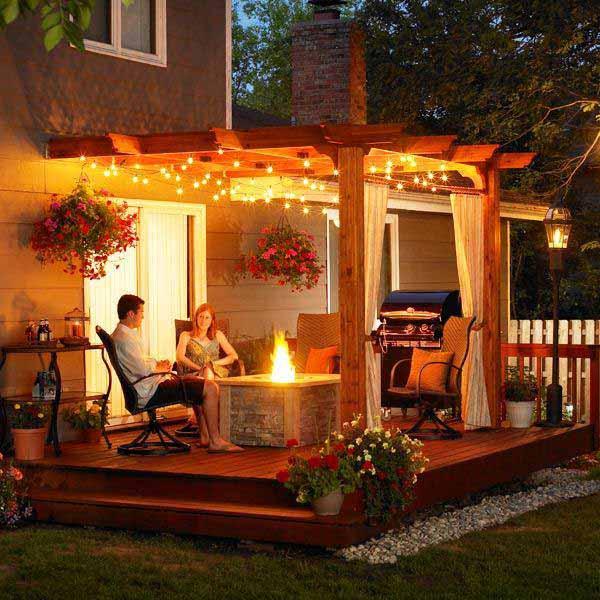 26 Breathtaking Yard and Patio String lighting Ideas Will ... on Backyard String Light Designs id=91223