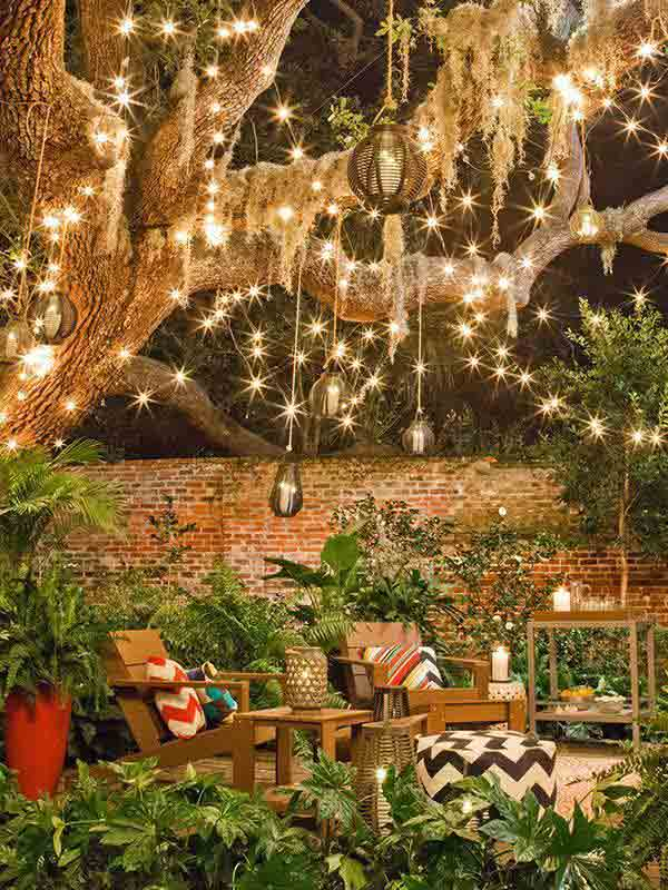 26 Breathtaking Yard and Patio String lighting Ideas Will ... on Backyard String Light Designs id=29300