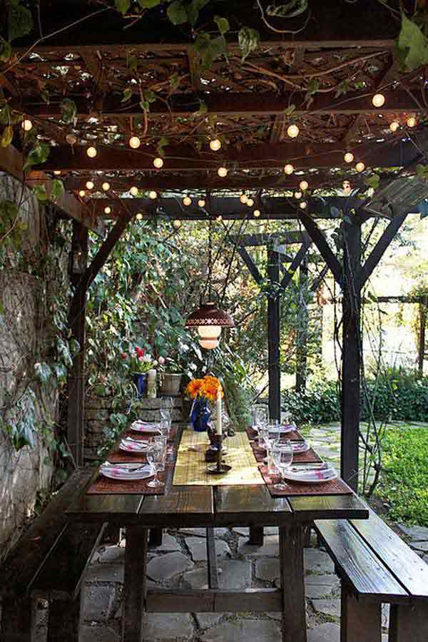 26 Breathtaking Yard and Patio String lighting Ideas Will ... on Deck String Lights Ideas id=42028