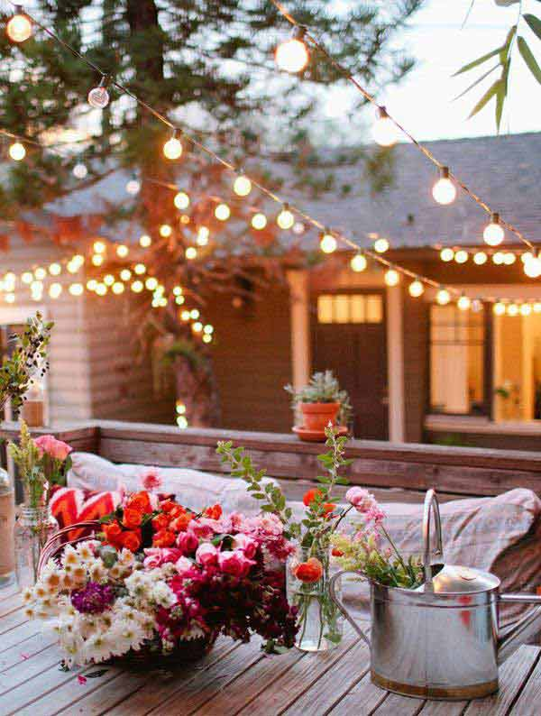 26 Breathtaking Yard and Patio String lighting Ideas Will ... on String Light Ideas Backyard id=54299