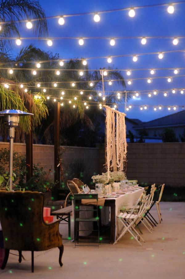 How To Hang String Lights For Outdoor Wedding : 26 Breathtaking Yard and Patio String lighting Ideas Will Fascinate You - Amazing DIY, Interior ...