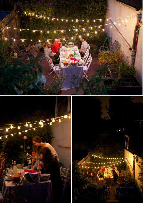 Yard And Patio String Light Ideas, Outdoor Party Lighting Ideas