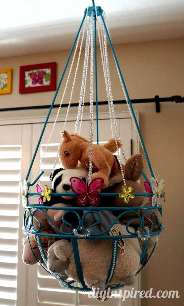 Stuffed-Toy-Storage-woohome-1 & Top 28 Clever DIY Ways to Organize Kids Stuffed Toys - Amazing DIY ...