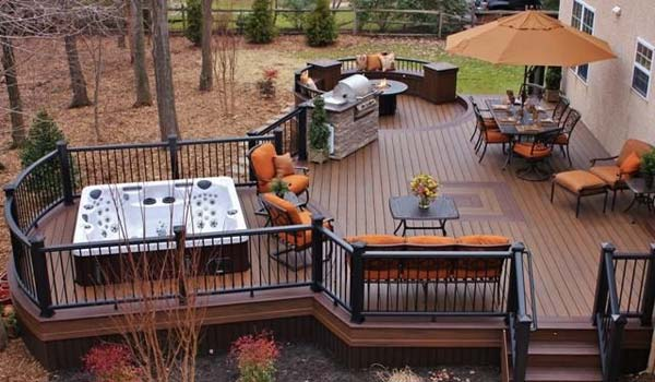 Decks Design Ideas stunning swimming pool deck design ideas with glass fence panels for luxury home small deck design ideas 32 Wonderful Deck Designs To Make Your Home Extremely Awesome