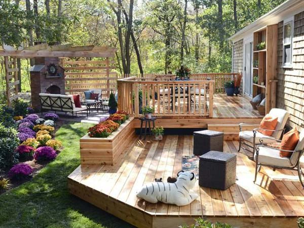 Ideas For Deck Designs how to design a deck for the backyard create a safe but open wood deck design Deck Design Ideas Woohome 1