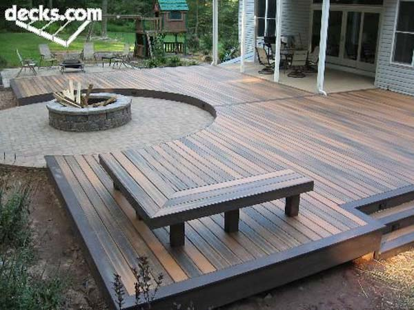 32 wonderful deck designs to make your home extremely for Building a composite deck