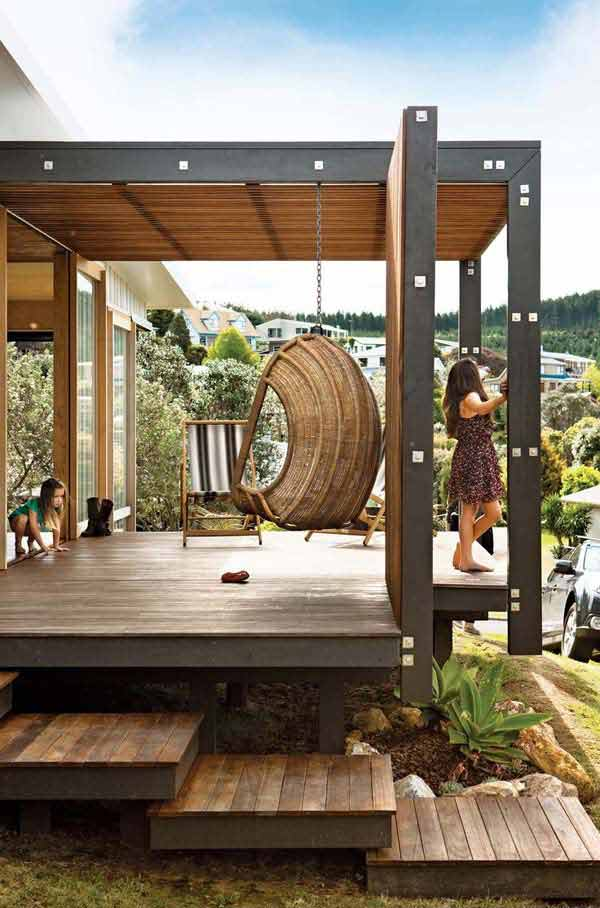 32 wonderful deck designs to make your home extremely. Black Bedroom Furniture Sets. Home Design Ideas