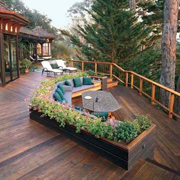 32 wonderful deck designs to make your home extremely for Deck garden box designs