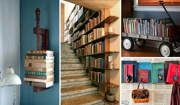 Decorate with books Ideas to decorate your house