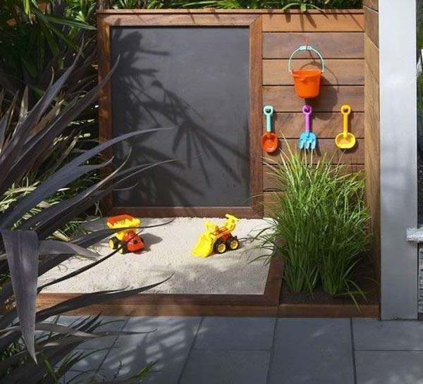 25 playful diy backyard projects to surprise your kids for Garden designs for kids