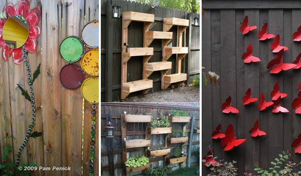 Garden fence decor house decor ideas - Diy garden decoration ideas ...