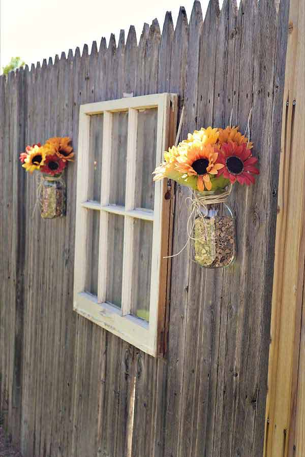 Top 23 Surprising DIY Ideas To Decorate Your Garden Fence ... on Backyard Wall Design id=88225
