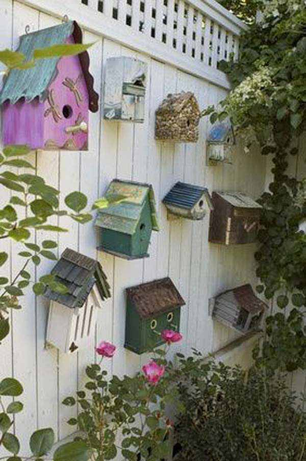 Top 23 Surprising DIY Ideas To Decorate Your Garden Fence ... on Backyard Wall Decor Ideas id=54784
