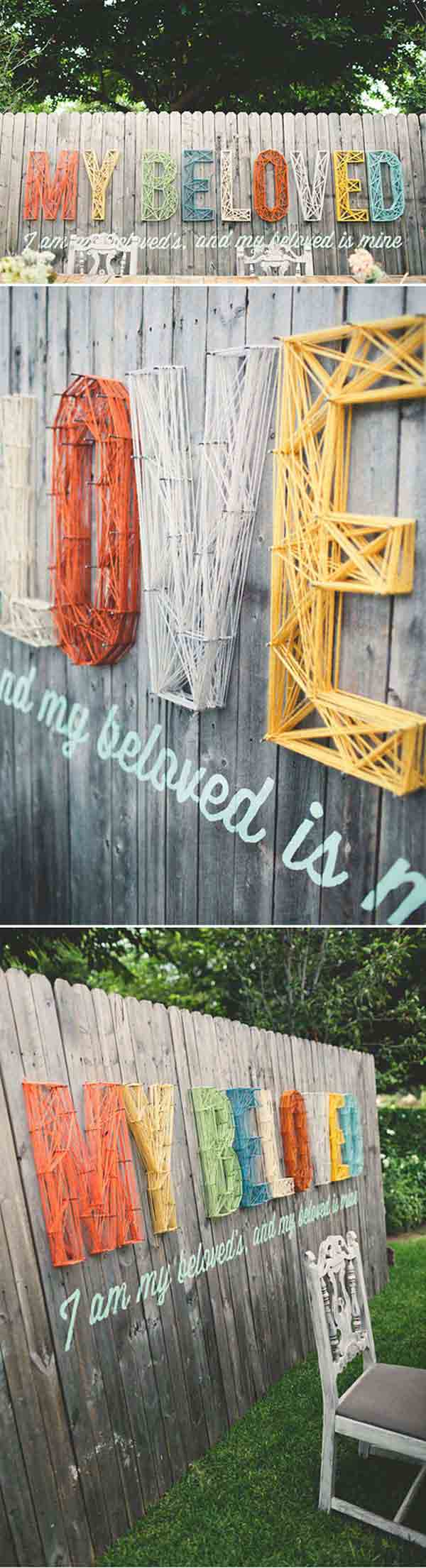 Top 23 Surprising DIY Ideas To Decorate Your Garden Fence ... on Backyard Wall Decor Ideas id=15203