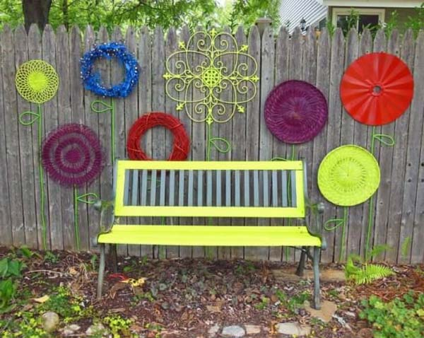 garden fence decor woohome 23 - Backyard Decor