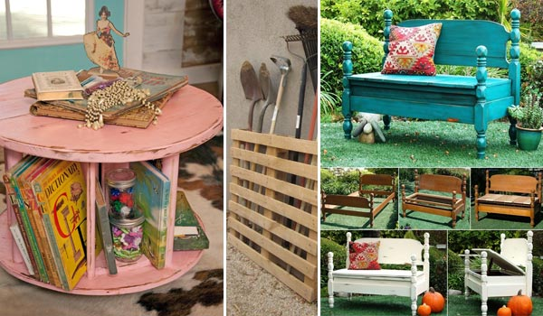 23 amazing ways to repurpose old furniture for your home for Repurposed home decorating ideas