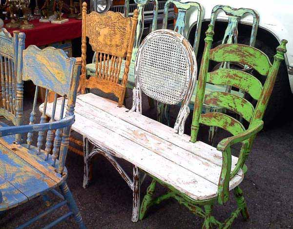 Repurpose Old Furniture Brilliant With Chair Bench Repurposed Furniture Ideas Picture