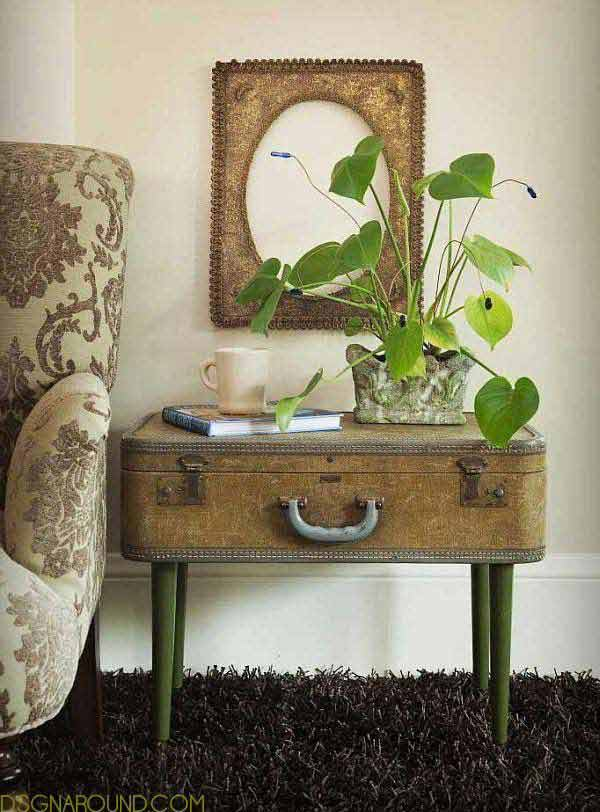 Repurpose Old Furniture Glamorous Of Vintage Repurposed Table Ideas Images