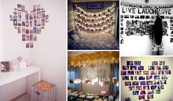 Top 24 simple ways to decorate your room with photos for Stuff to decorate room