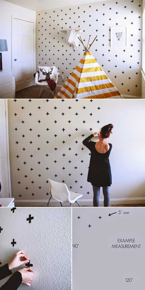 Wall Design Homemade : Diy cool and no money decorating ideas for your wall