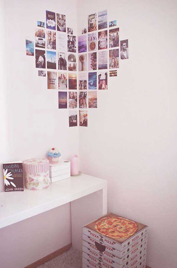 26 diy cool and no money decorating ideas for your wall for Diy wall mural ideas
