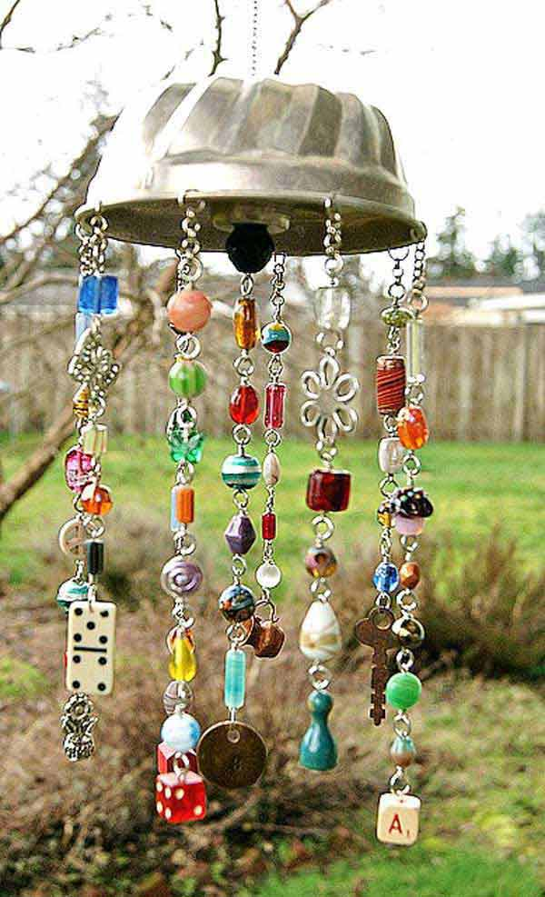 34 easy and cheap diy art projects to dress up your garden for Wind chime craft projects