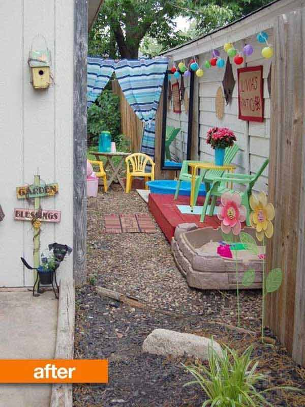 Garden Ideas For Narrow Spaces incredible design of small garden small garden design Narrow Space Designs Woohome 6