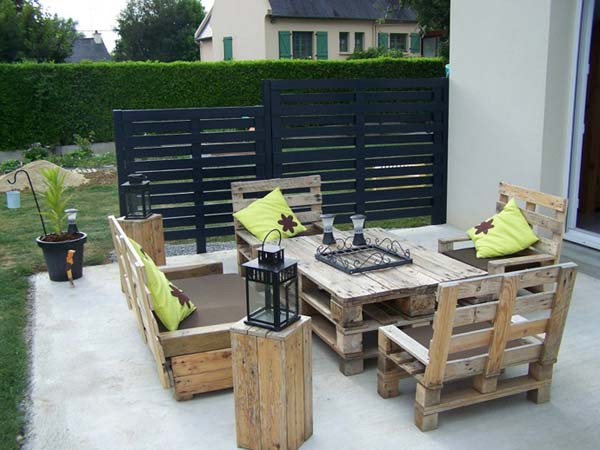 Outdoor Pallet Furniture Woohome 19