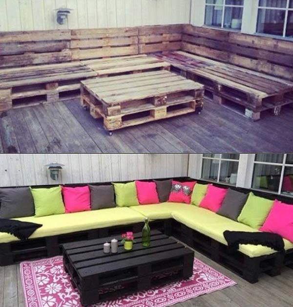 outdoor pallet furniture woohome 3. Top 38 Genius DIY Outdoor Pallet Furniture Designs That Will Amaze