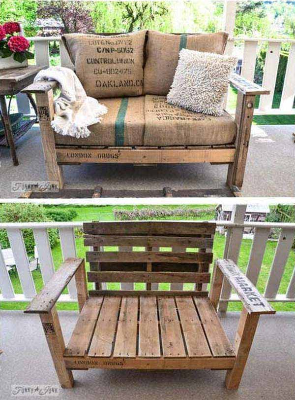 outdoor pallet furniture woohome 30. Top 38 Genius DIY Outdoor Pallet Furniture Designs That Will Amaze