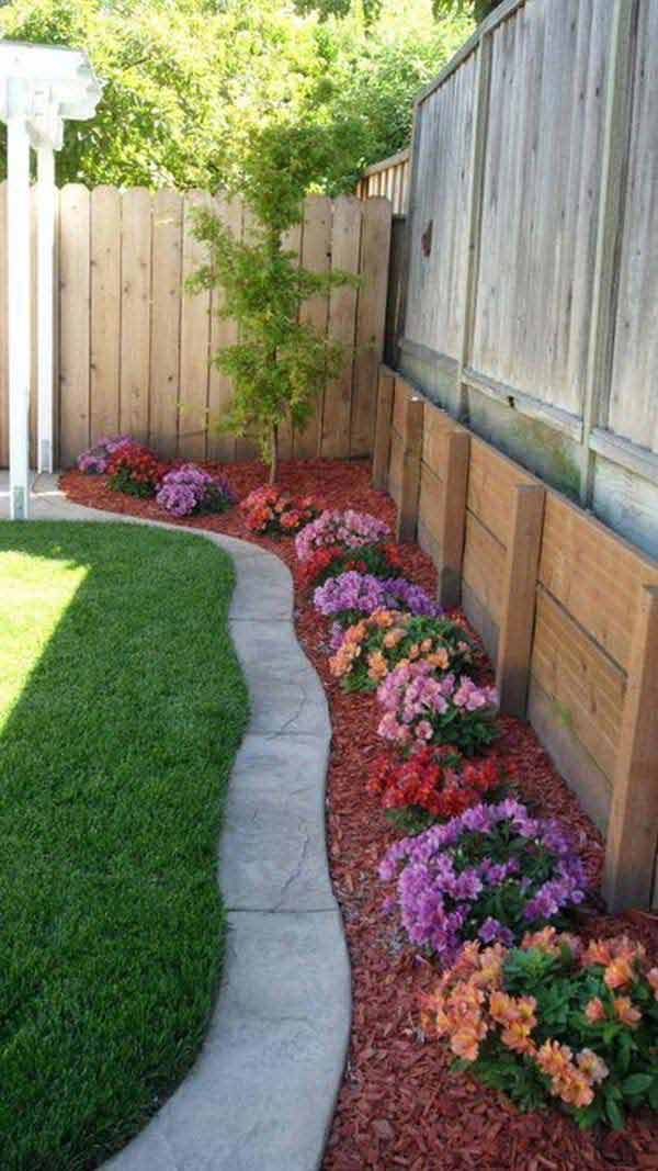 Garden Border Edging Ideas scrap treated wood as garden edging Garden Bed Edging Ideas Woohome 18