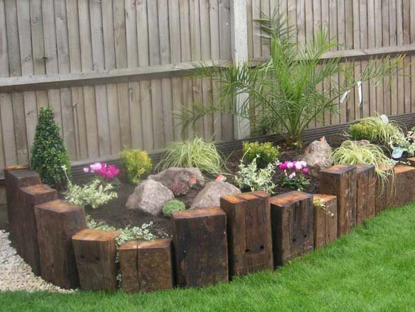 Top 28 Surprisingly Awesome Garden Bed Edging Ideas ... on Backyard Border Ideas id=75053