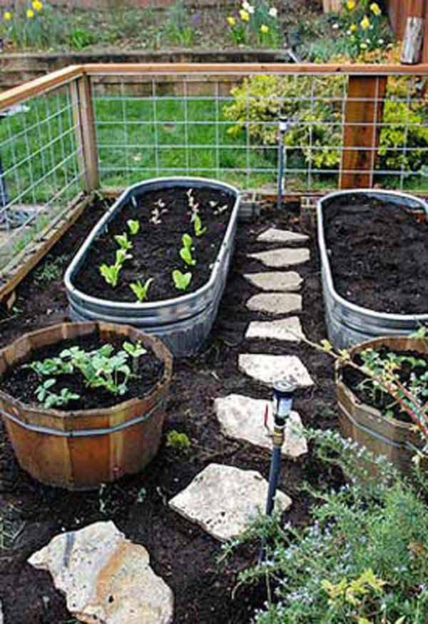 garden bed edging ideas woohome 4 - Diy Vegetable Garden Ideas