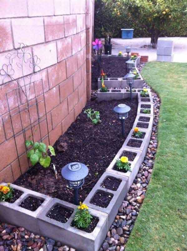 Creative Garden Edging Ideas how to do garden edging with leftover house tiles creative garden edging with dazndi Garden Bed Edging Ideas Woohome 8 2