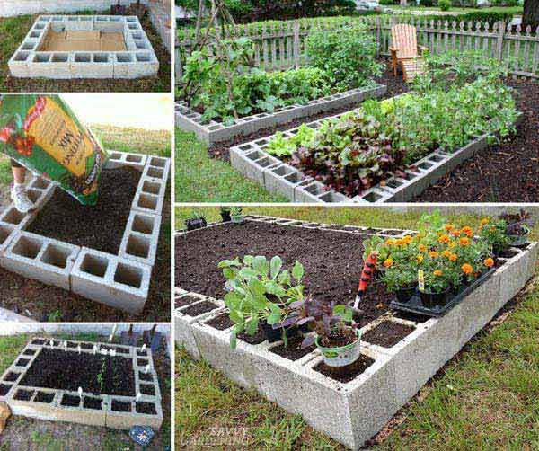 Top 28 surprisingly awesome garden bed edging ideas for Bordure ciment pour jardin
