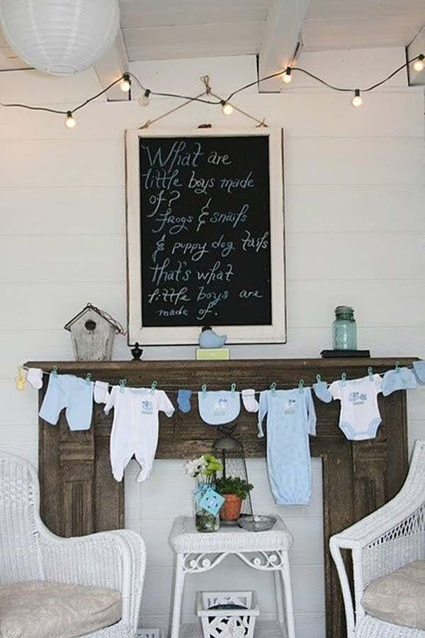 22 cute low cost diy decorating ideas for baby shower for Home decorations for baby shower