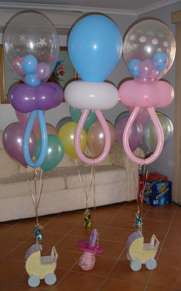22 cute low cost diy decorating ideas for baby shower for Balloon decoration designs
