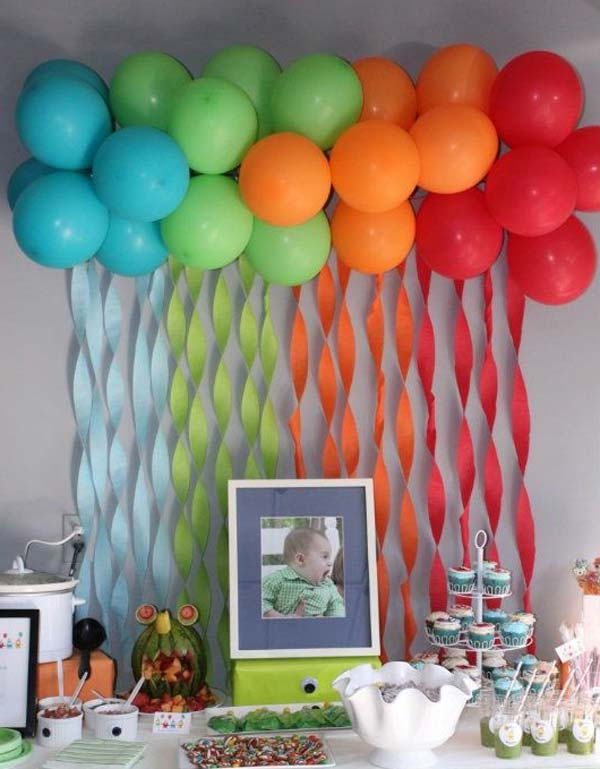 Party Decorations At Home home party decoration ideas of goodly simple th birthday party decoration ideas sandy great Baby Shower Decor Ideas Woohome 9